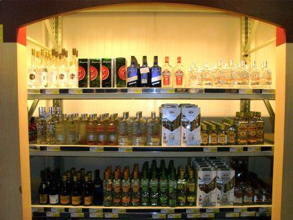 洋酒コーナー