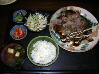 広島風お好み焼きランチ