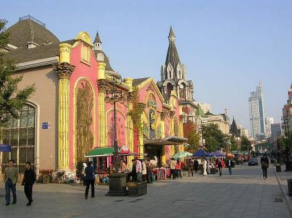 ロシア街から中山広場方面