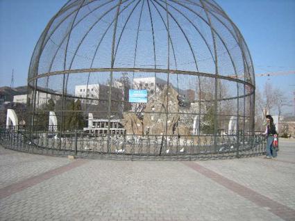 ドーム状の鳩小屋