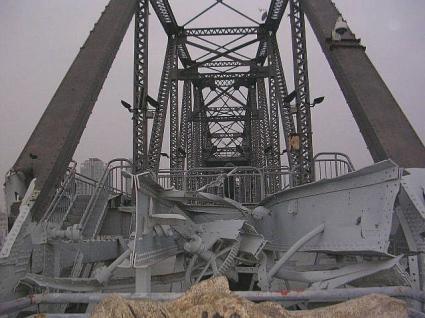 朝鮮戦争時の爆撃跡
