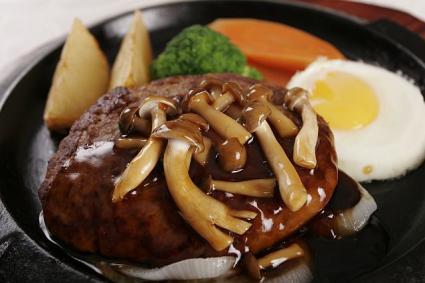 きのこハンバーグ(汉堡牛排)