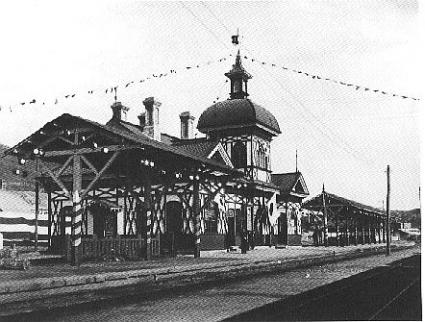 開業時の旅順駅