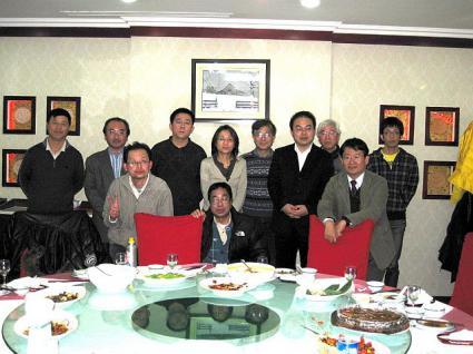 2009年大連日本語教師会の忘年会