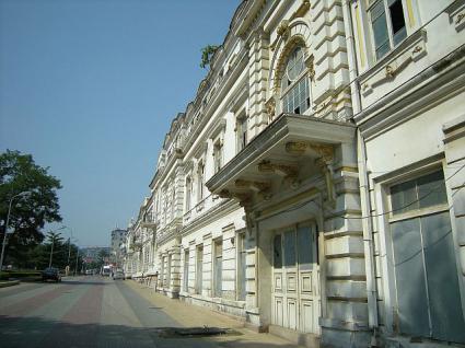 旧旅順高等公学校(旧旅順師範学堂)北側の様子。