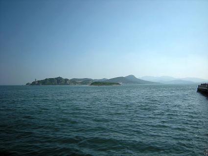軍港遊園からの風景(旅順)