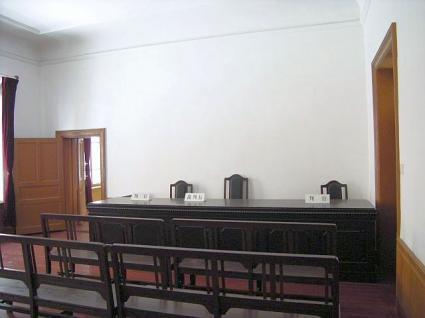 1階の法廷