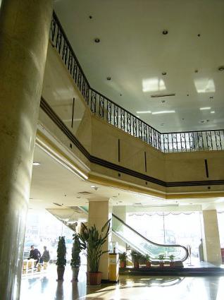 渤海明珠酒店1階フロント前