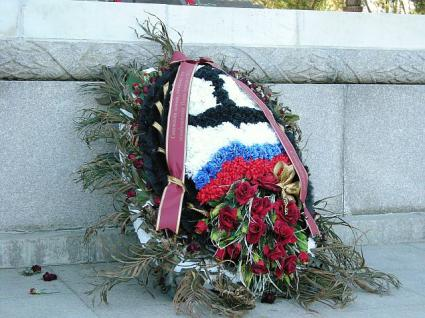 メドベージェフ大統領の花輪