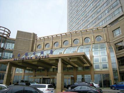 目の前に港がある大連星海假日酒店