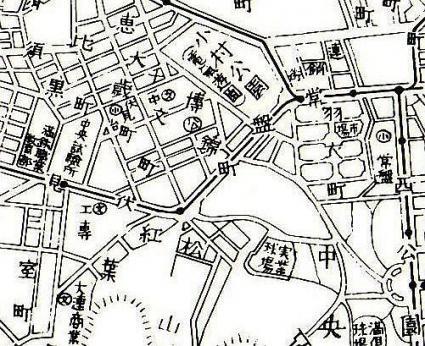 戦前の町山町周辺地図