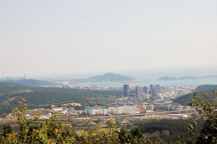 二〇三高地の頂上からの眺め