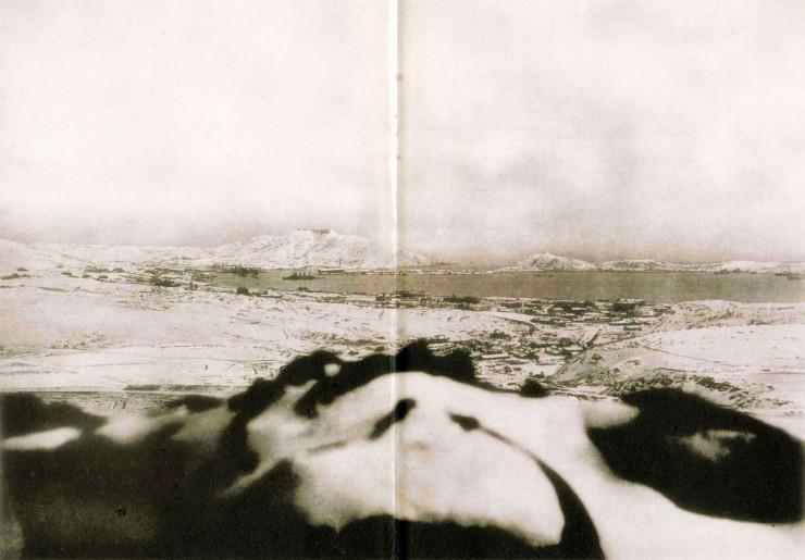 二〇三高地の頂上からの眺め(古写真)