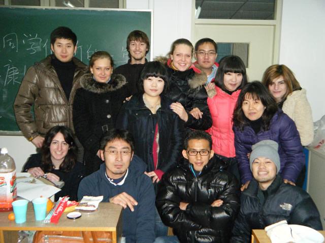 各国の留学生と交流した遼寧師範大時代
