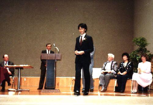 カリフォルニアの学校で開かれた表彰式