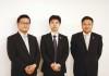 講演した小林公亮総経理、趙万利弁護士、李綱弁護士(左から)