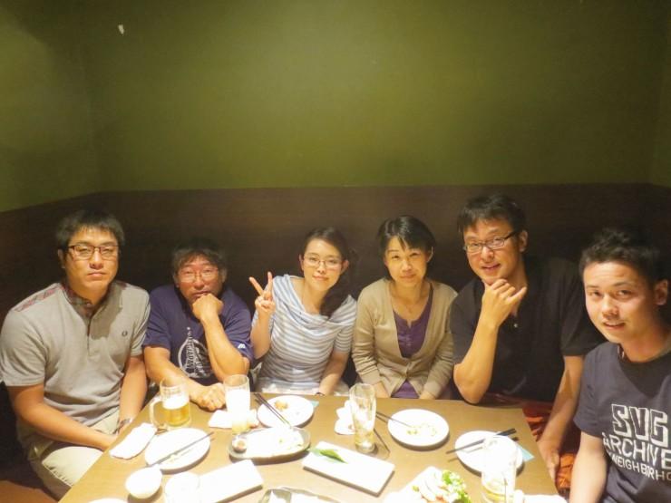 福島や大連の話題で盛り上がった大連福島県人会OB会のメンバー