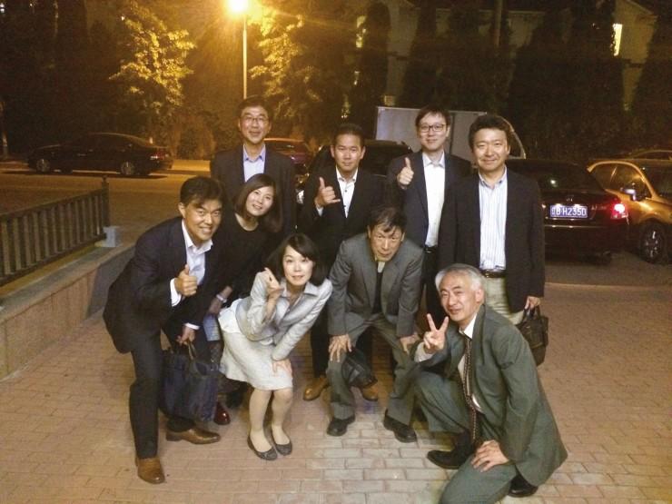 大都会の発会懇親会に参加したメンバー