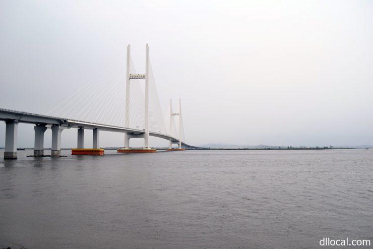 開通が未定となっている新鴨緑江大橋
