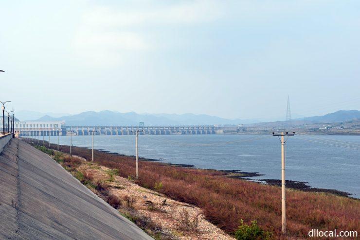 中朝国境にある太平湾ダム